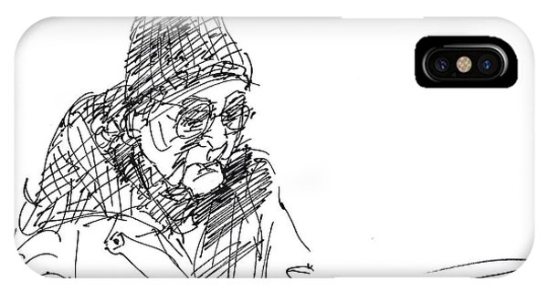 Sketch iPhone Case - Eating  by Ylli Haruni