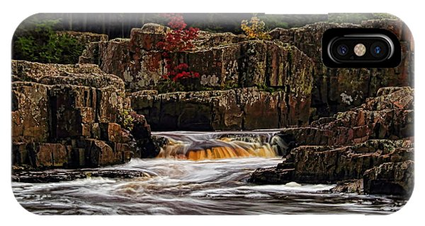 Waterfall Under Colored Leaves IPhone Case