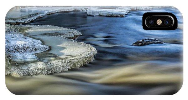Eau Claire River Ice IPhone Case