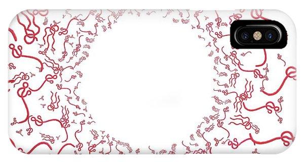 Ebola Virus Particles Phone Case by Maurizio De Angelis