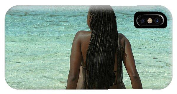 Ebony Queen On Beach IPhone Case