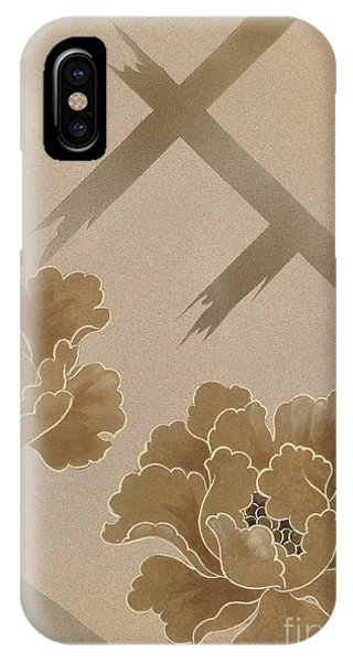 Peony iPhone Case - Echigo Dojouji Crop I by MGL Meiklejohn Graphics Licensing