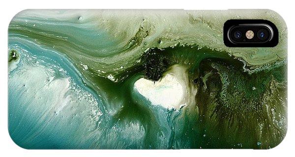 Echo Green Abstract Art By Kredart IPhone Case