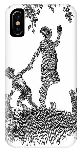 Eclipse Observation Cartoon Phone Case by Royal Astronomical Society/science Photo Library