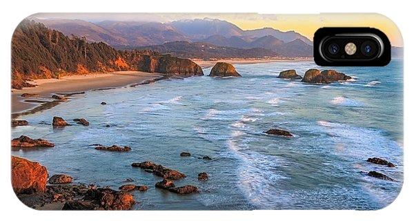 Ecola Beach Sunset IPhone Case