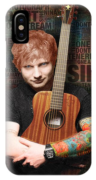 Ed Sheeran And Song Titles IPhone Case