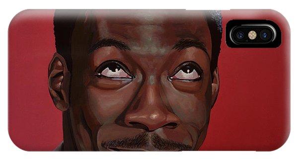 African American iPhone Case - Eddie Murphy Painting by Paul Meijering