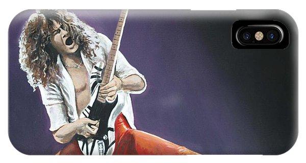 Van Halen iPhone Case - Eddie Van Halen by Tom Carlton
