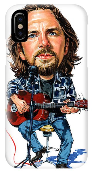 Pearl Jam iPhone Case - Eddie Vedder by Art