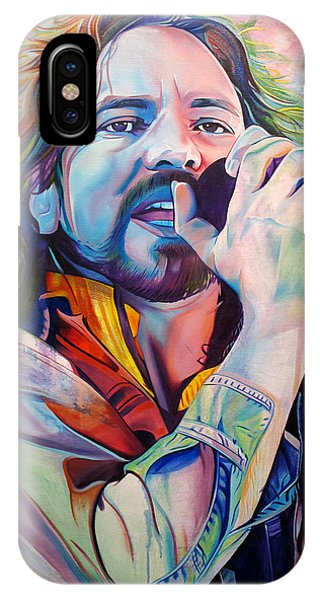 Eddie Vedder In Pink And Blue IPhone Case
