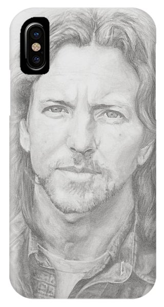 Pearl Jam iPhone Case - Eddie Vedder by Olivia Schiermeyer