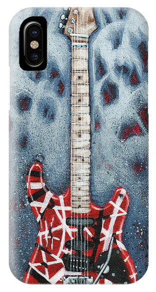 Rock And Roll Art iPhone Case - Eddie's Frankenstrat by Arturo Vilmenay