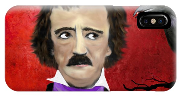 Edgar Allan Poe And The Raven IPhone Case