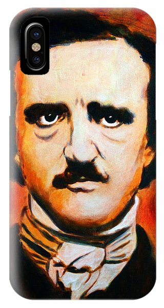 IPhone Case featuring the painting Edgar Allan Poe by Bob Baker