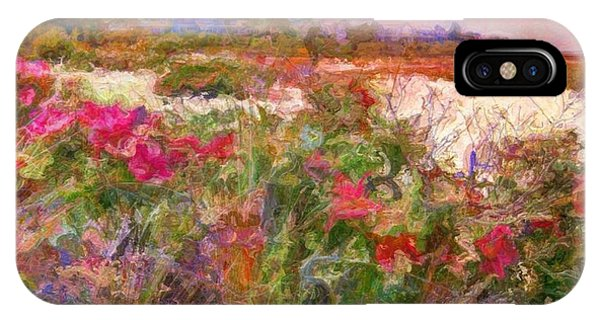 Edgartown Shoreline Roses - Square IPhone Case