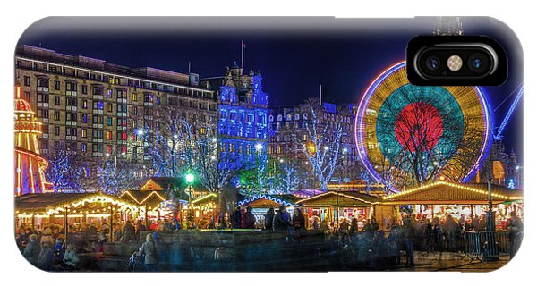 Edinburgh Christmas Market IPhone Case