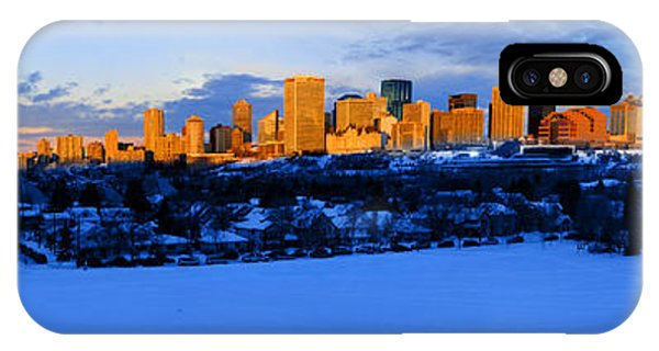 Edmonton Winter Skyline Panorama 1 IPhone Case