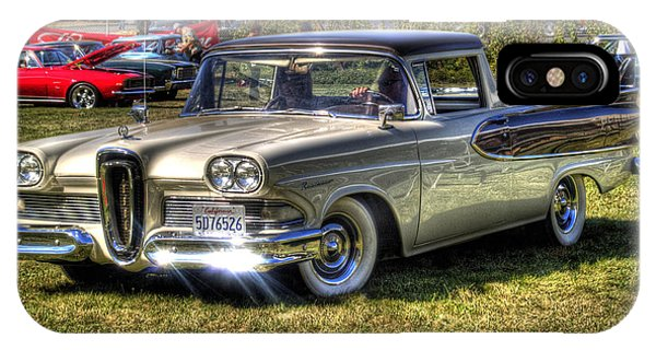 Auto Show iPhone Case - Edsel Ranchero by Bill Gallagher