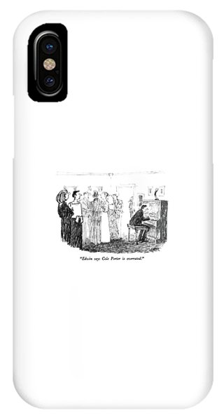 Edwin Says Cole Porter Is Overrated IPhone Case
