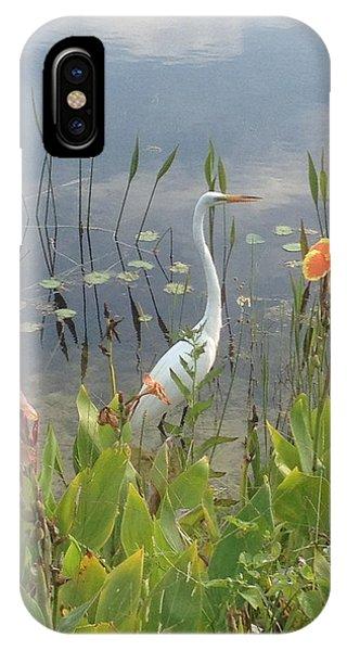 Egret And Iris IPhone Case
