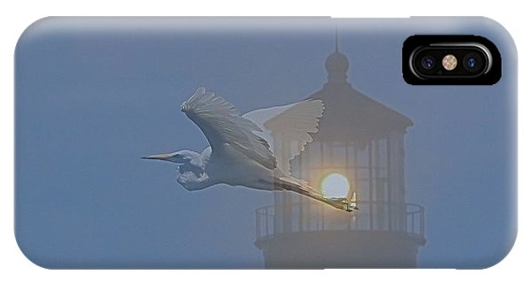 Egret At Hatteras IPhone Case