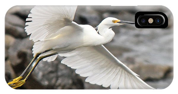 Egret Flight IPhone Case