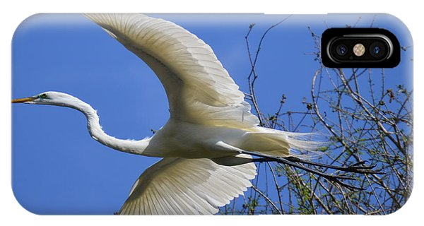 Egret Flying IPhone Case
