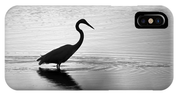 Egret In Bw IPhone Case