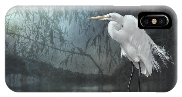 Egret In Moonlight IPhone Case