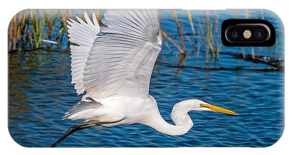 Egret In Motion IPhone Case