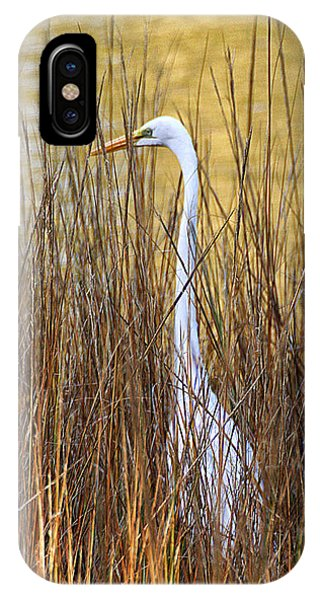 IPhone Case featuring the photograph Egret In The Grass by William Selander