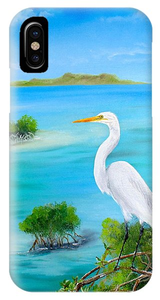 Egret In The Mangroves IPhone Case