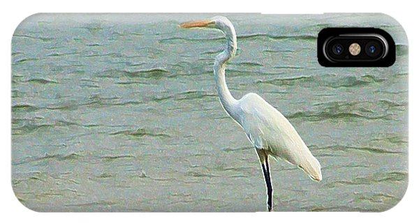 Egret In The Shallows IPhone Case