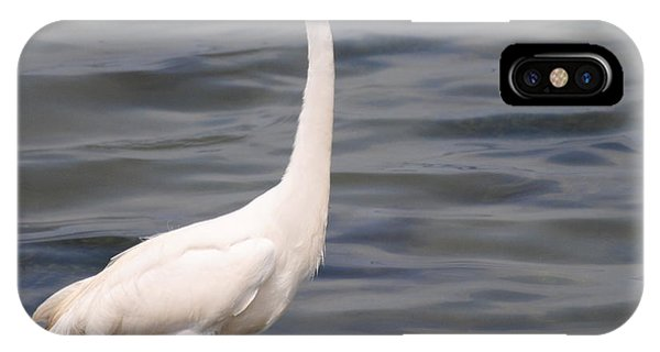 Egret On Alert IPhone Case