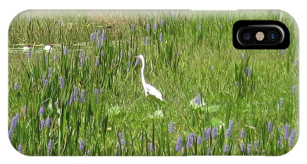 Egret On The Lake IPhone Case