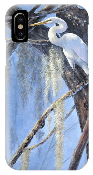 Egret Perch IPhone Case