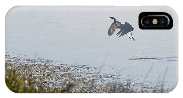 Egret Taking Off IPhone Case