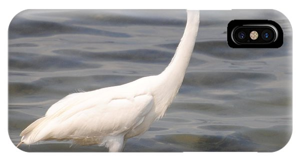 Egret Wading And Watching IPhone Case