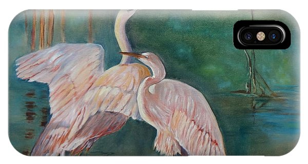 Egrets In The Mist IPhone Case