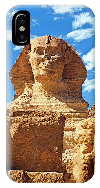 East Africa iPhone Case - Egypt, Cairo, Giza, The Sphinx by Miva Stock