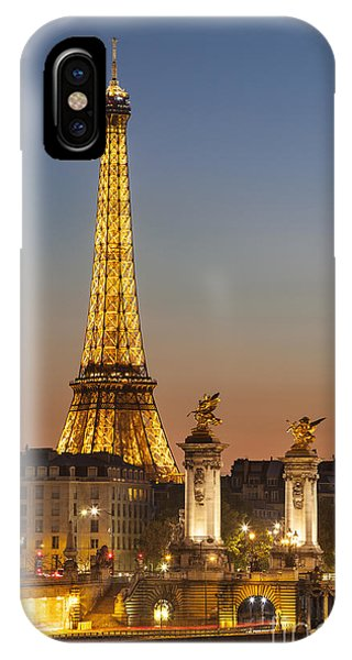 IPhone Case featuring the photograph Eiffel At Twilight by Brian Jannsen