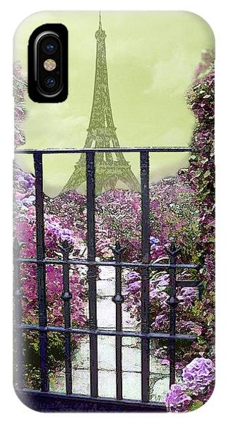 Eiffel Garden IPhone Case