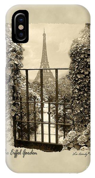 Eiffel Garden Sepia IPhone Case