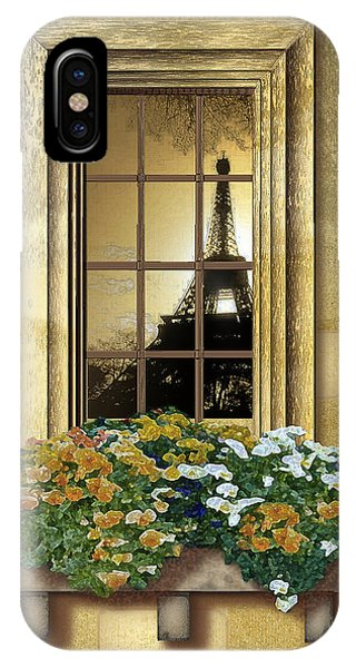 Eiffel Reflection IPhone Case