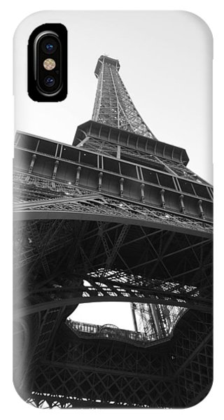 Eiffel Tower B/w IPhone Case