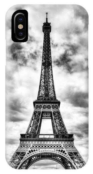 Eiffel Tower In Paris 3 Bw IPhone Case