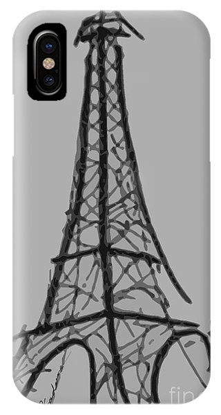 Eiffel Tower Lines IPhone Case