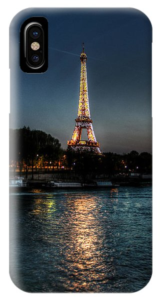 Eiffel Tower Night Time Phone Case by Steve Ellenburg