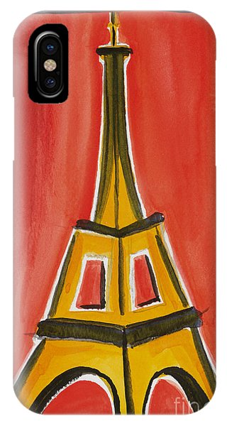 Eiffel Tower Orange And Yellow IPhone Case