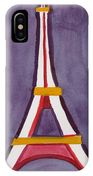 Eiffel Tower Purple Red IPhone Case